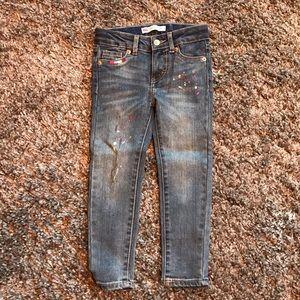 Girls 710 Levi's Super Skinny Paint Splatter Jeans